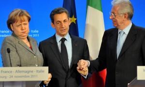 Monti Merkel Sarkozy