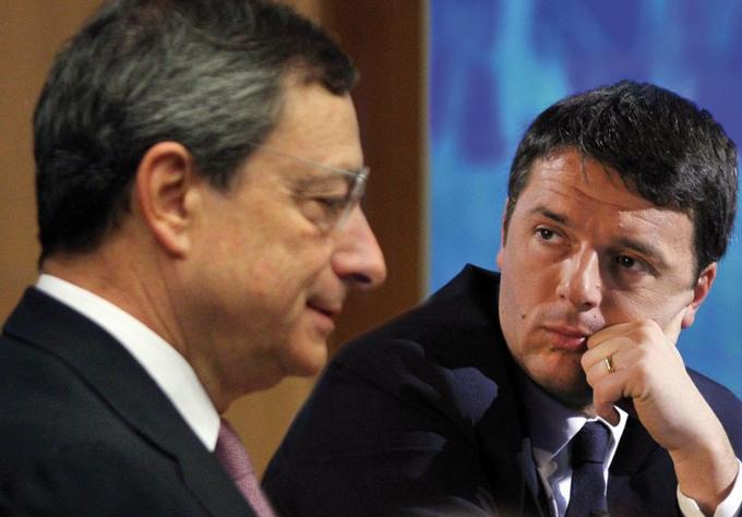 Risultati immagini per Matteo Renzi e Mario Draghi