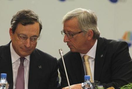 Draghi Juncker