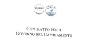 bozza contratto Lega-M5s