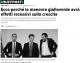 R. BRUNETTA (Lettera ad 'Huffington Post') – ECCO PERCHE' LA MANOVRA GIALLOVERDE AVRA' EFFETTI RECESSIVI SULLA CRESCITA