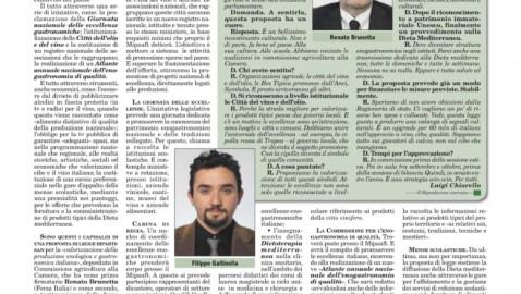 IL MEGLIO DEI CIBI IN SCUOLE E TV – Alla Camera una proposta di legge bipartisan mette a sistema produzioni, enti e risorse ('Italia Oggi')
