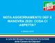 NOTA DI AGGIORNAMENTO DEF E MANOVRA 2020: COSA CI ASPETTA? (Dossier)