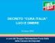 """DECRETO """"CURA ITALIA"""": LUCI E OMBRE"""